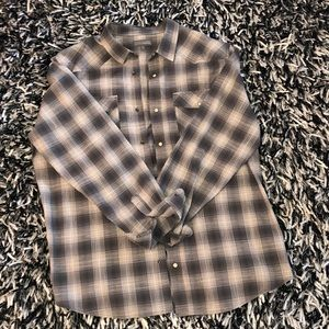 Denver Hayes Snap Button Plaid Shirt